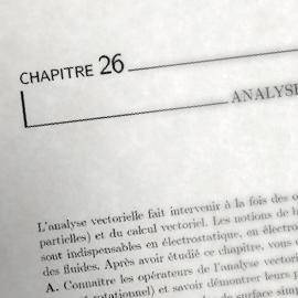 Chapitre 26 : Analyse vectorielle